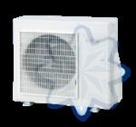 FUJITSU ASYG09KXCA/AOYG09KXCA (kültéri + beltéri egység) Oldalfali split klíma 2.5 kW Hősz. Inver. R32