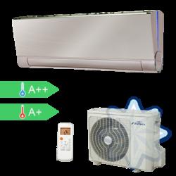 FISHER FSAIF-Art-92AE3-G/FSOAIF-Pro-96AE2 (kültéri + beltéri egység) Oldalfali split klíma GOLDEN 2,6 kW,Hősz, Inverter , R410A, WIFI csatlakozási opció