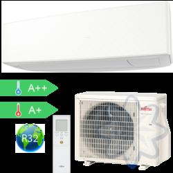 FUJITSU ASYG12KETA/AOYG12KETA (kültéri + beltéri egység) Oldalfali split klíma(Fehér) 3,4 kW Hősz. Inver. R32