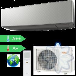 FUJITSU ASYG14KETA-B/AOYG14KETA (kültéri + beltéri egység) Oldalfali split klíma (Szürke) 4,2 kW Hősz. Inver. R32
