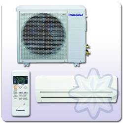 "Panasonic ""PW"" ON-OFF Oldalfali 3.4 kW HŐSZIVATTYÚS SPLIT KLÍMA KIT-PW12-GKX"