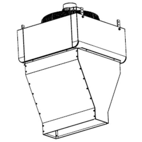Galletti AREO 32 M031L0 Termoventilátor légfüggöny diffúzorral